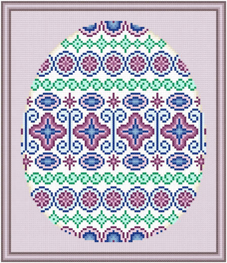 cross stitch pattern Easter Egg Design # 2 - Majestic