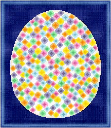 cross stitch pattern Easter Egg Design #4 - Spreckled