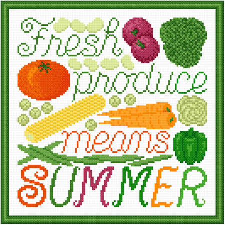 cross stitch pattern Fresh Produce Means Summer