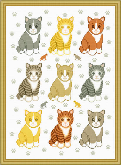 cross stitch pattern Kittens