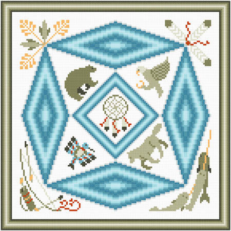 cross stitch pattern In Honor of Native Art