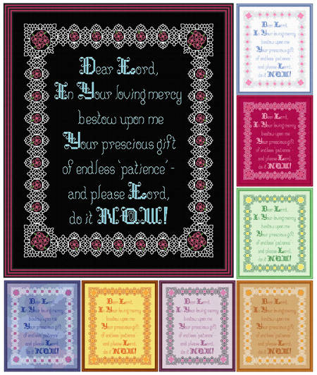cross stitch pattern Patience - NOW!