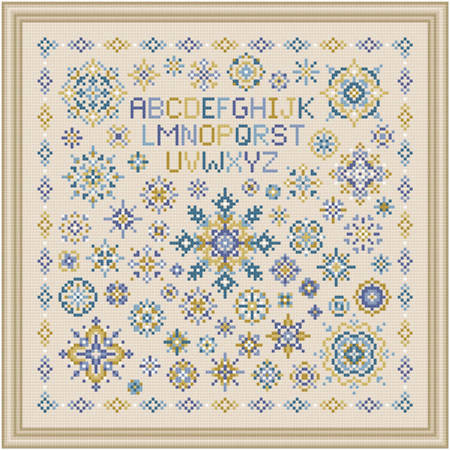 cross stitch pattern Shades of Long Ago