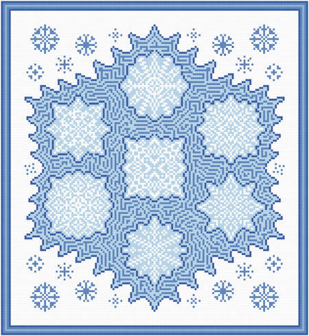 cross stitch pattern Snowflake Maze