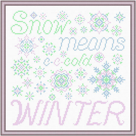 cross stitch pattern Snow Means Winter