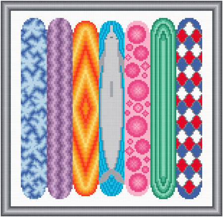 cross stitch pattern Surf's Up
