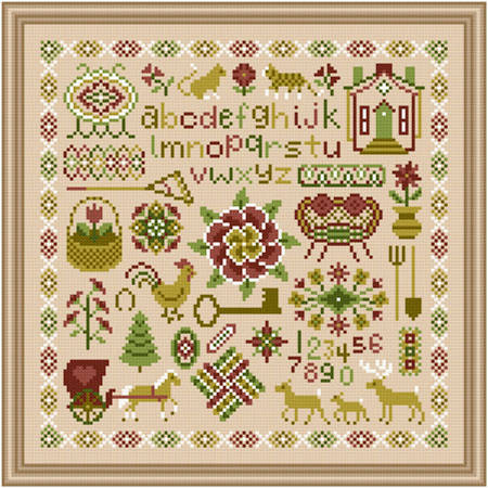 cross stitch pattern Shades of Yesteryear