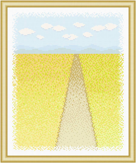 cross stitch pattern Scenery - Wide Open Spaces