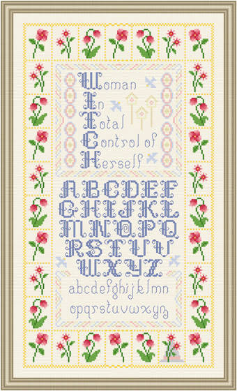cross stitch pattern W.I.T.C.H.  Sampler