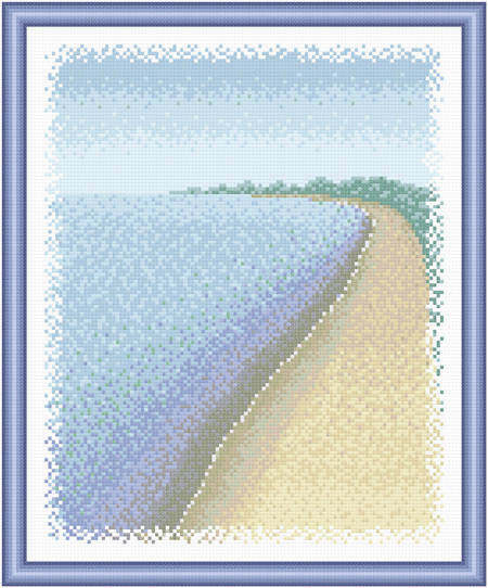 cross stitch pattern Scenery - By the Water's Edge
