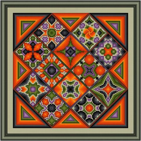 cross stitch pattern Enhanced Diamonds - Halloween