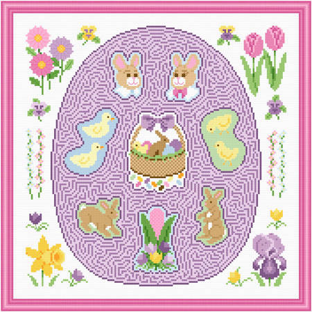 cross stitch pattern Easter Maze