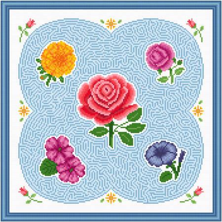 cross stitch pattern Flower Maze