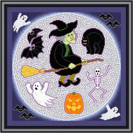 cross stitch pattern Halloween Maze