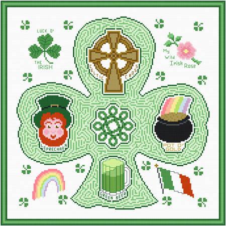 cross stitch pattern Irish Maze