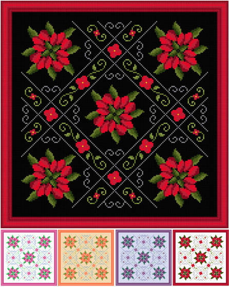 cross stitch pattern Romance