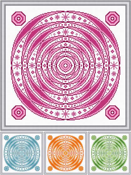 cross stitch pattern Self Image   (4 color options)