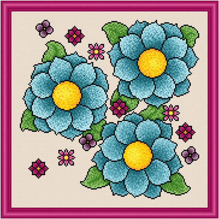 cross stitch pattern Vibrance - Artistic