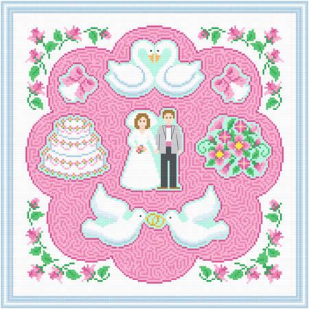 cross stitch pattern Wedding Maze