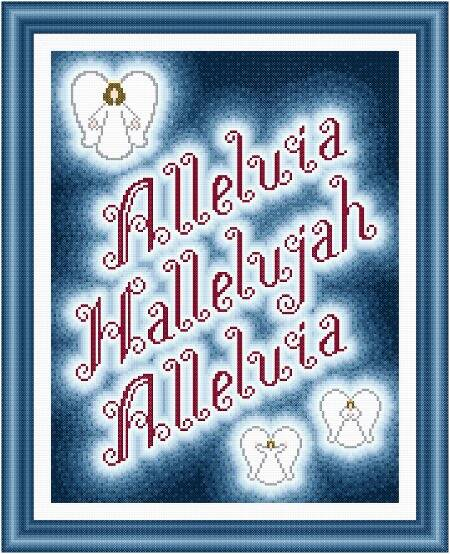 cross stitch pattern Hallelujah / Alleluia