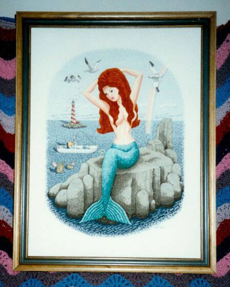 cross stitch pattern Fisherman's Dream
