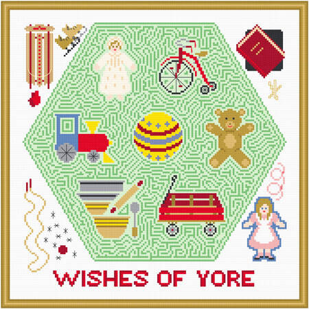 cross stitch pattern Wishes of Yore Toy Maze