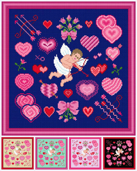 cross stitch pattern Cupid's Delight