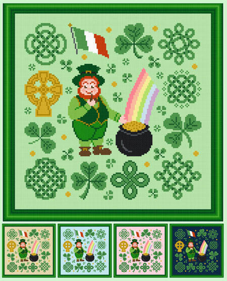 cross stitch pattern Jolly Leprechaun