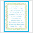 cross stitch pattern One Body