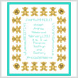 cross stitch pattern Teddy Bear Baby Sampler