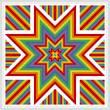 cross stitch pattern Glowing Star