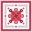 cross stitch pattern Hearts Abound