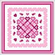 cross stitch pattern Love Knots