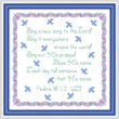 cross stitch pattern Sing A New Song