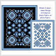 cross stitch pattern Sapphire and Silver