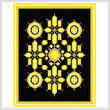 cross stitch pattern Topaz and Gold