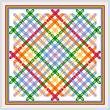 cross stitch pattern Rainbow Lattice Quilt