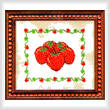 cross stitch pattern M - M - M Strawberries