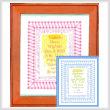 cross stitch pattern Sunshine Baby Sampler