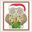 cross stitch pattern Christmas Owl