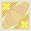 cross stitch pattern Egg and Olive on a Croissant