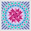 cross stitch pattern Merry Go Round - Blue Edges