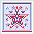 cross stitch pattern Patriotic Stars