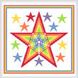 cross stitch pattern Rainbow Stars