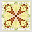 cross stitch pattern Reuben - Green Accents