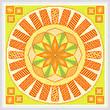 cross stitch pattern Swings - Orange