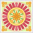 cross stitch pattern Swings - Red