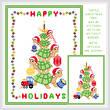 cross stitch pattern Turtle Christmas Tree