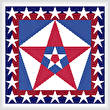 cross stitch pattern USA Colors with Stars