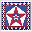 cross stitch pattern USA Colors with Stars